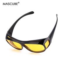 MASCUBE HD Yellow Polarized Lenses UV400 Night Vision Glasses For Women Men Driving Accessories