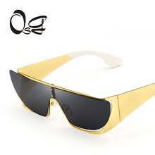 OSG New 2017 Fashion Brand Designer Sunglasses  Women Reflective Mirror Sun Glasses metal Frame Glasses UV400