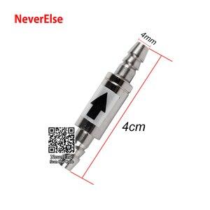 Обратный клапан для аквариума 4 мм для установки системы СО2 из нержавеющей стали с защитой от протечек, без обратного потока, без возврата, для аквариума СО2, диффузор, воздушный клапан
