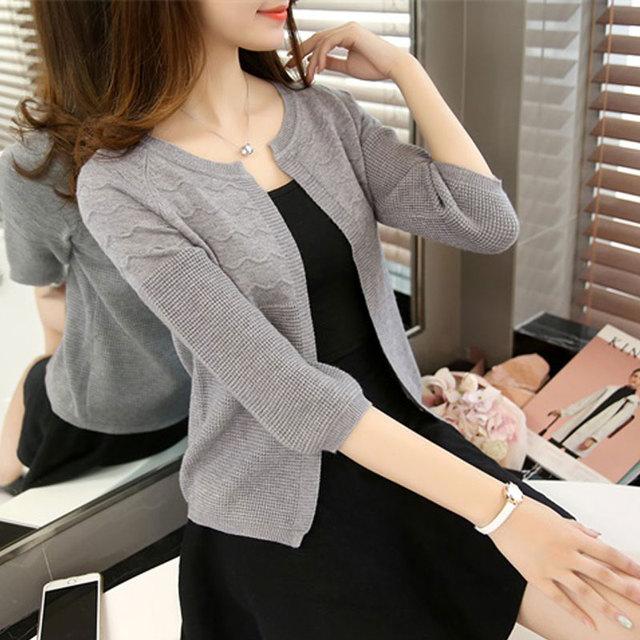 2016 outono cor sólida moda feminina Suéter de cashmere fêmea quente cardigan grande outerwear curto Malha Cardigans casacos tops