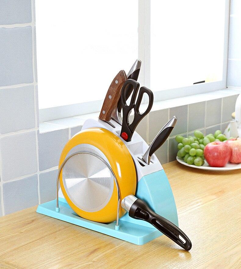 1PC Multifunction Color Plastic Kitchen Knife Holder Universal Knife Block Stand Under Blades For Kitchen Knives Tool OK 0584
