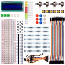 For Arduino Starter Kit  Basic Learning Suite with Switch Led LCD Resistors for Arduino UNO R3 Mega2560 Mega328 Nano
