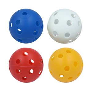 Image 2 - 20pcs/lot 41mm Golf Training Balls Plastic Airflow Hollow with Hole Golf Balls Outdoor Golf Practice Balls