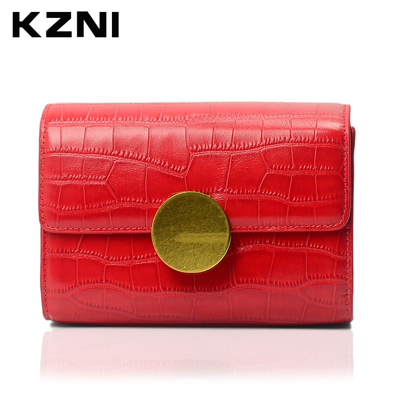 KZNI Female Bags Crossbody Shoulder Day Clutches Leather Genuine Women Bags for Girls Sac a Main Femme De Marque 1389