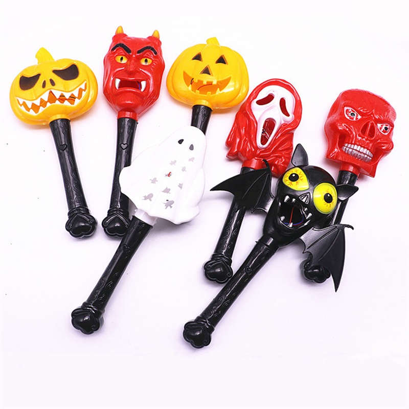 7PC pumpkin ghost Finger Light LED Colorful Light-up Stick Party Halloween Party decorations Kids Prank Joke Toy gifts