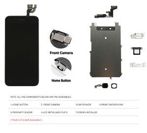 Image 2 - Grade AAA Display Para iPhone 6 Plus 6 S 6 SPlus 5S LCD de Substituição do Conjunto Completo 100% Completa 3D Força botão Touch Screen Casa