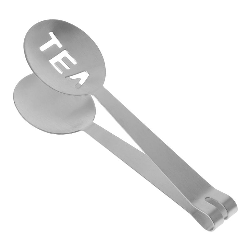 Stainless Steel Food Toast Tongs Toaster Bacon Sugar Ice Tea Bag Squeezer Tong Grip Holder Clip Home Kitchen Tool