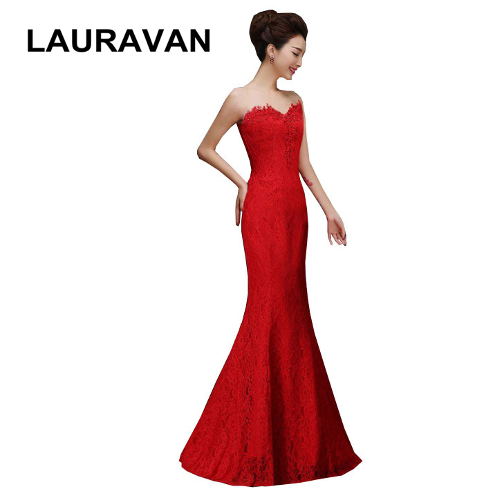 women bridal lace strapless red bride maides mermaid bridesmaid strapless bridesmaid dresses lady long tight sexy gown