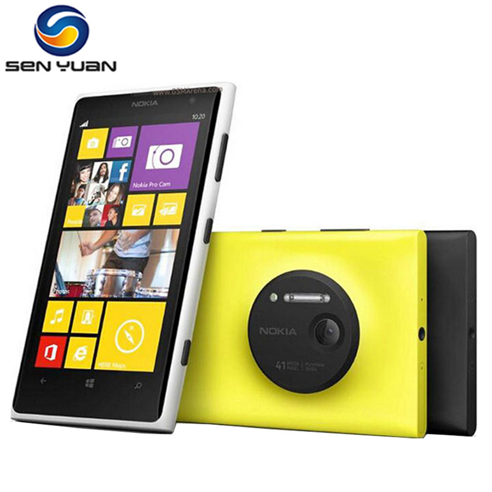 "Original Nokia lumia 1020 Windows phone 2GB RAM 32GB ROM 41MP GPS Wifi 4.5"" Screen Unlocked Lumia 1020 cell phone"