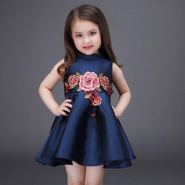 6fc061c69 Nuevo verano niños flor vestido 2017 niños Vestidos para Niñas Tutu partido  Niñas vestidos para adolescentes