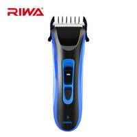 RIWA Waterproof Hair Trimmer Men Hair Clipper Professional Haircut Machine Cutting Trimmer Shaver Rechargeable Razor Clipper