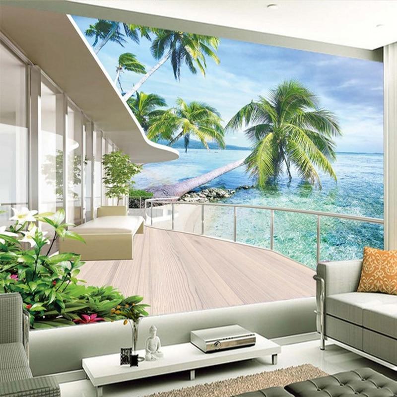 Foto Hawaii Villa balcón paisaje pintura murales de pared salón TV ...