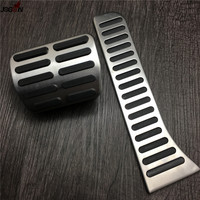 AT&MT Gas Fuel Brake Clutch Foot Pedal Pad For Volkswagen VW Passat B6 B7 CC Scirocco R GT RHD AT