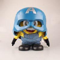 קפטן אמריקה 1:1 blue hat מסכת קסדת ראש כיסוי סוכך עיניים מארוול כובע מגבעת DC באטמן איש ברזל נוקמי PVC איור דגם צעצוע