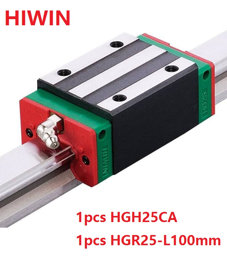 1pcs 100% original Hiwin linear rail guide HGR25 -L 100mm + 1pcs HGH25CA linear narrow block for cnc original 1pcs n0734ys120 n0734ys140 n0734ys160