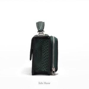 Image 3 - XMESSUN Luxury Genuine Python Leather Hand Bags Cross Body Shoulder Bag Snakeskin Designer Day Clutch Chain Crossbody Bag