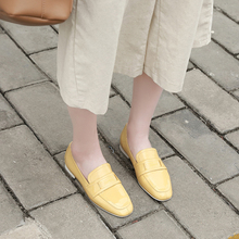 VALLU loafers Shoes Lady Flats 2019 Spring New Arrival Pregnant Women Flat Casual Shoes Genuine Leather Soft Sole Mother shoes vallu buckle strappy women s flat shoes 2018 handmade real cow leather lady flats new arrival female leisure shoes