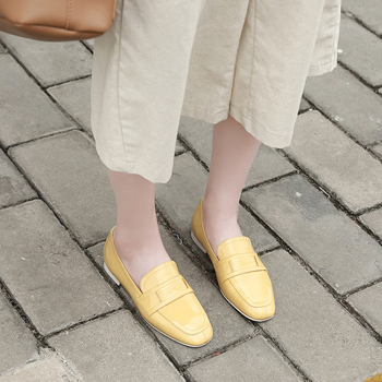 VALLU loafers Shoes Lady Flats 2019 Spring New Arrival Pregnant Women Flat Casual Shoes Genuine Leather Soft Sole Mother shoes