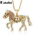 Лошадь Ожерелье Многоцветный Кристалл Rhinestone Длинная Цепь Ожерелья Подвески Для Женщин Подарок M374