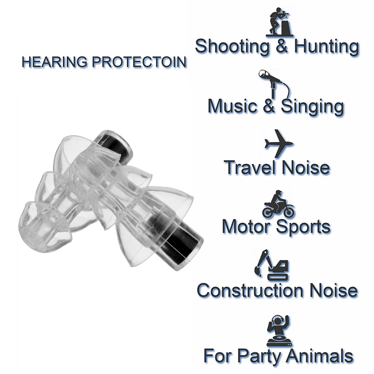 Image 5 - High Fidelity Silicone Musician Filter Earplugs Noise Reduction Cancelling Hearing Protection Earbud Reusable Sleep Care 27db-in Ear Protector from Security & Protection