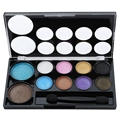 Waterproof Xibei Beauty 10 Colors Glitter Eyeshadow Palette Makeup Kit Brighten Eyes And Make Eyes Look More Beautiful2