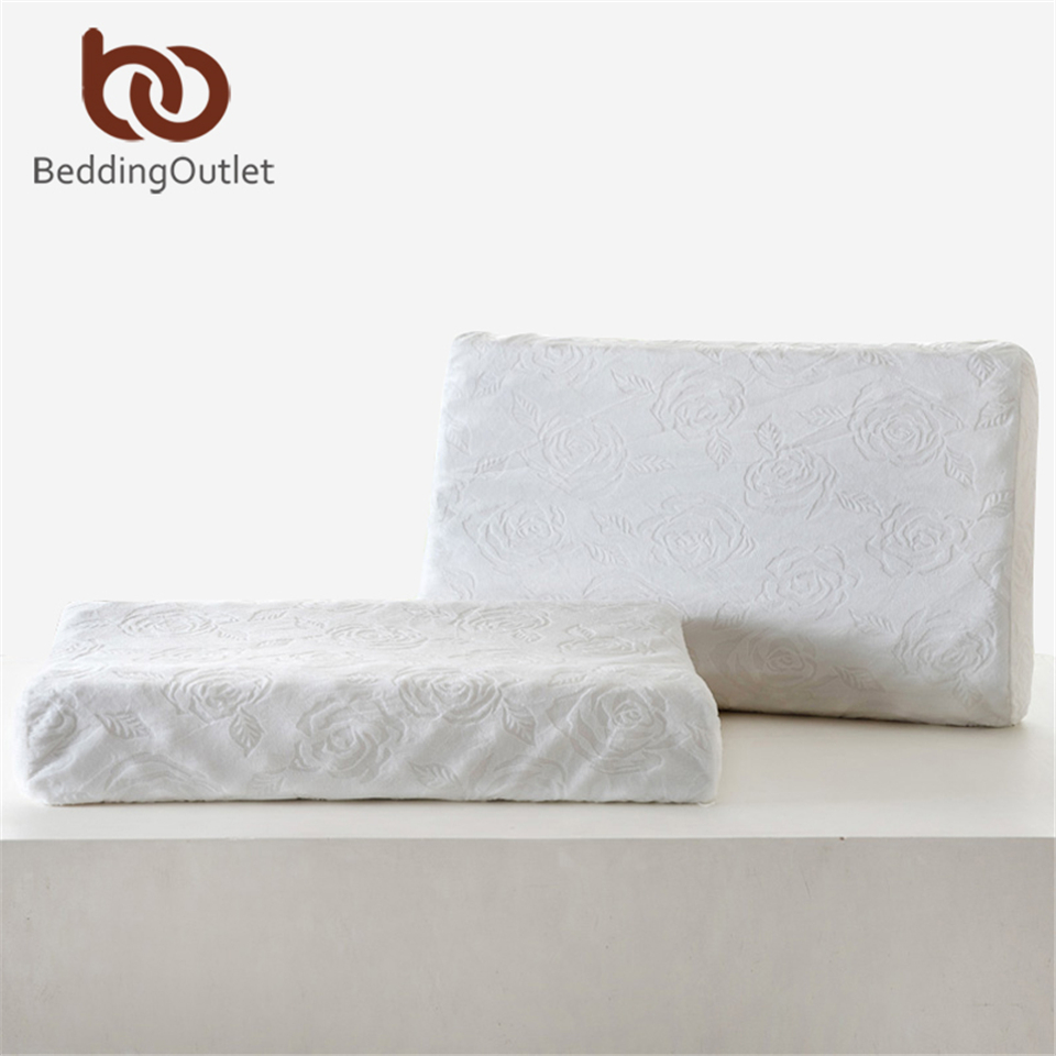 Foam Or Latex Mattresses Us 59 8 Beddingoutlet Thailand Natural Latex Bedding Bedroom Pillow Cervical Orthopedic Natural Foam Pillow Man Health 60x38x11 13cm In Bedding