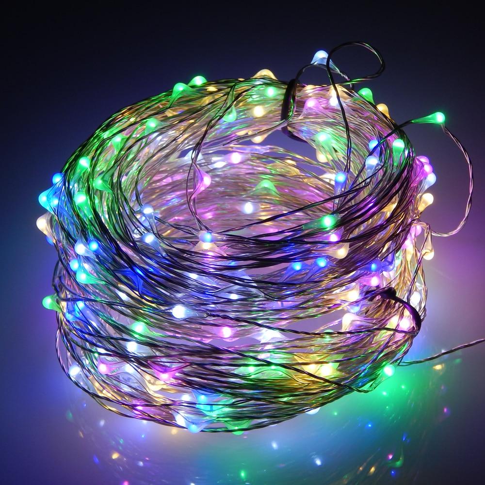 30M / 99FT 300 светодиод Cool White Light Күміс Wire - Мерекелік жарықтандыру - фото 4
