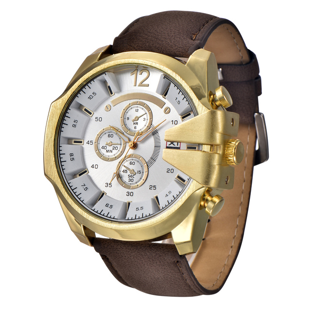 cf32ea92110 5 cm Grande Relógios Mens XINEW Marca Relógios Pulseira de Couro Masculino  futuro relógio Relojes de