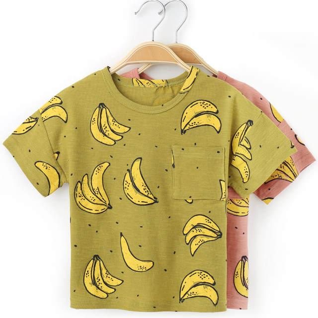 180f2bed87e Fashion Banana Printed T Shirt For Boy Cotton Kids T-shirts Summer Children  T Shirts