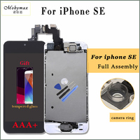 Moybmax AAA All Tested LCD Display For Iphone SE Touch Screen Digitizer Full Assembly Home Button