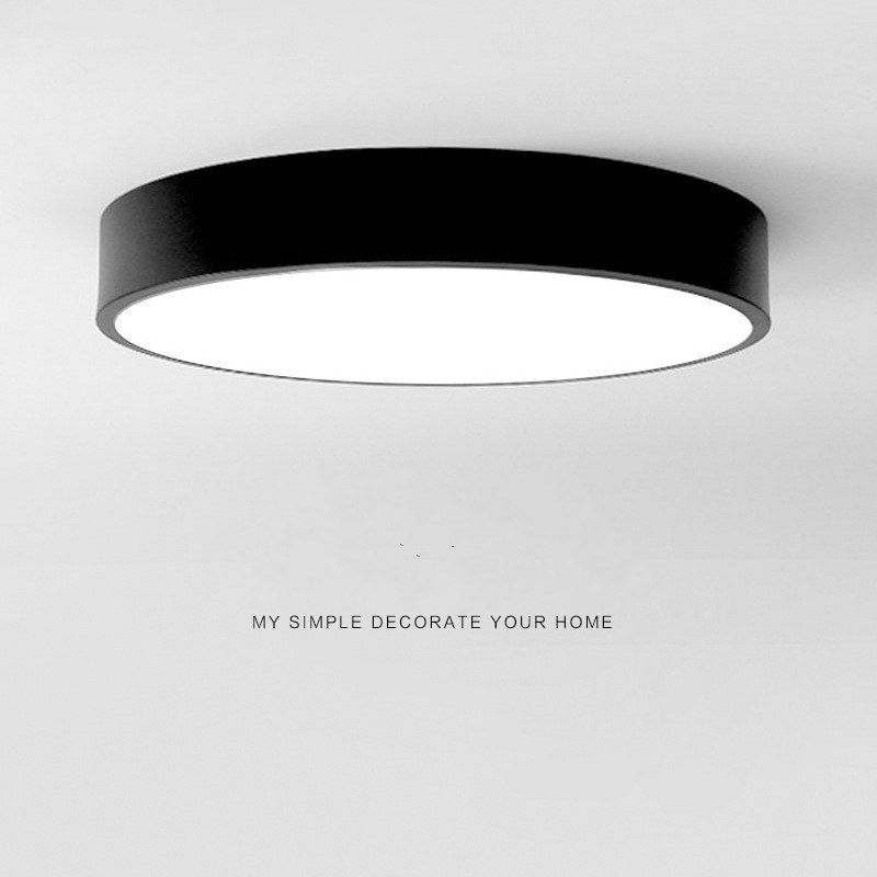 Surface Mounted Led Ceiling Light Black Round Square ...
