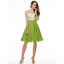 e6cc53affaf TS Couture A-Line Fit Flare Scoop Neck Knee Length Chiffon Tulle Cocktail  Party Prom