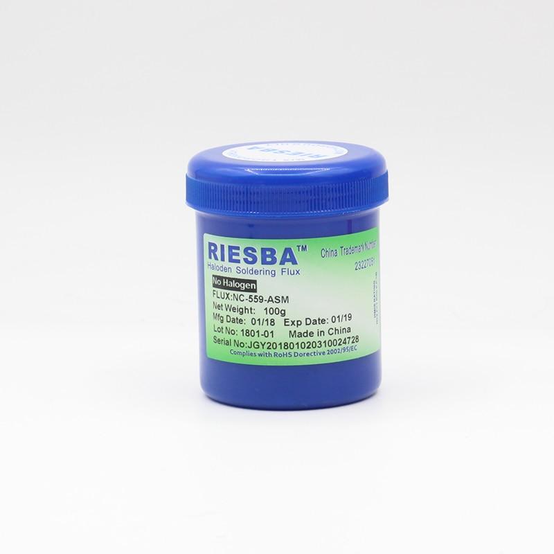 все цены на RIESBA 100g NC-559-ASM flux solder Help solder paste oil cylinder welding Welding accessories (1PCS/LOT 5PCS/LOT 10PCS/LOT)