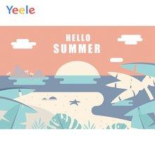 Фон для фотосъемки yeele с изображением летнего Морского Пейзажа