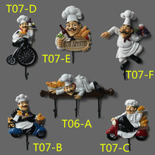 free shipping Originality cook wall decorated hooks Resin with steel hooks clothes ,Cap home decorated  hooks T07