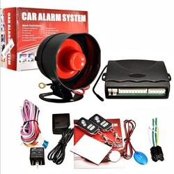 New Elice Universal Car Alarm System 1 Way Vehicle Burglar Alarm Security Protection with 2 Auto Remote Control free shipping