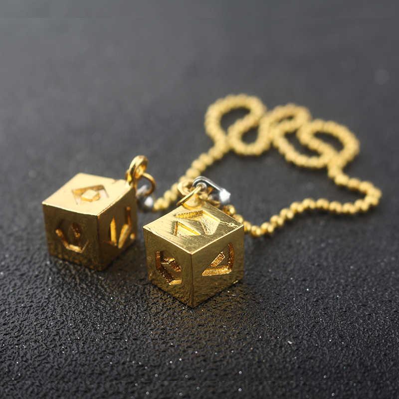 Gwiezdne wojny Han Solo naszyjnik ostatni jedi kostka złoty łańcuszek choker naszyjnik dla kobiet mężczyzn biżuteria