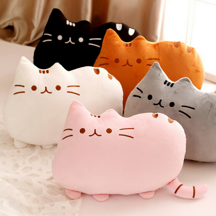 1pc 40*30cm New Cat Pusheen Pillow with Zipper Only Skin Biscuits Kids Toys Kawaii Kids Toys Cute Plush Cushion Brinquedos large 24x24 cm simulation white cat with yellow head cat model lifelike big head squatting cat model decoration t187