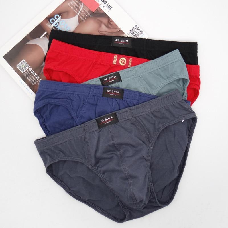 VDOGRIR M-5XL Sexy Men's Briefs Seamless Thongs Cotton Low Waist Underpants Underwear Men Lingerie Comfortable Femme Mens Pants