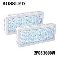 2 teile/los BOSSLED Wachsen Led 2000 Watt LED wachsen licht gesamte spektrum für zimmerpflanzen medizinische blume veg alle wachsen bühne hydrokultur