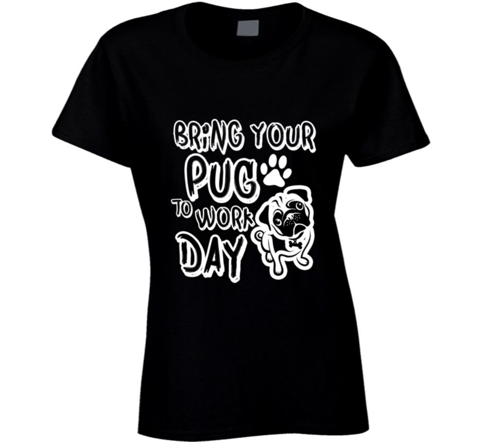 Bring Your Pub To Work Day - Funny T-Shirt Lady Casual Short Sleeve Tees Summer Rock Roll T Shirts Women BlackStyle