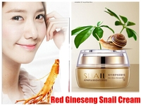 Red Ginseng Snail Cream Brand Face Care Day Night Cream Face Treatment Reduce Scars Acne Moisturizing