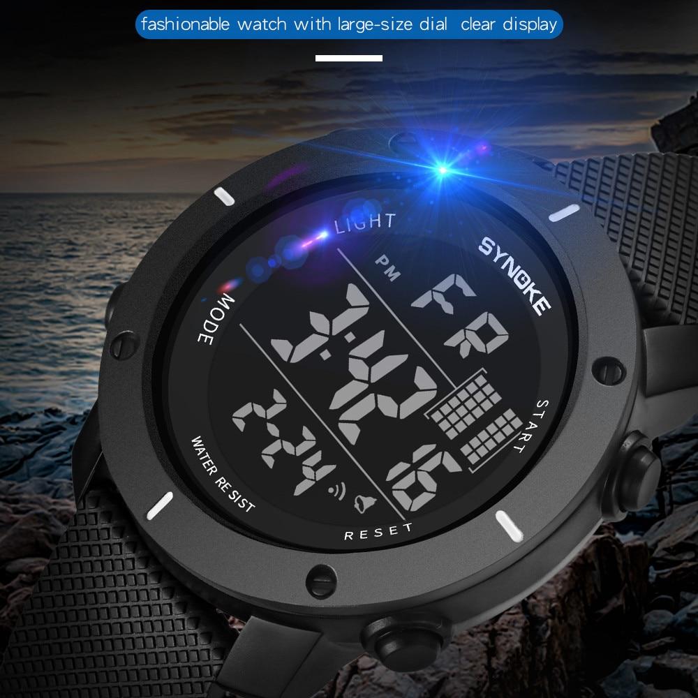 SYNOKE Men Watch Multi-Function 50M Waterproof LED Double Action Sports Watches Digital Watch 2019 Relogio Sport Masculino