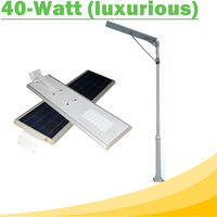 40W All In One LED Solar Street Lights Waterproof Outdoor Easy Installation12V LED Lamp for Solar Home Lighting System Luxurious