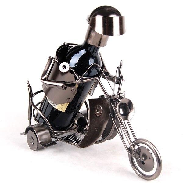 [Fornecedor de ouro] mercearia artesanato rack de vinho 1797 motocicleta artesanato de ferro forjado, artesanato de metal, vinho tinto, presentes, rack de vinho - 2