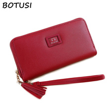 BOTUSI Large Space Oft Leather Long Women Wallet Change Hasp Clasp Purse Clutch Design Handbag Purses Handbags