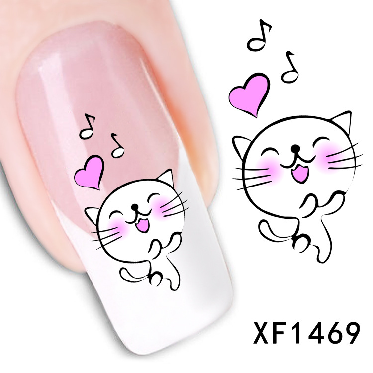 happy white cat design Water Transfer Nails Art Sticker decals lady women  manicure tools Nail Wraps - Online Get Cheap Happy Design Nails -Aliexpress.com Alibaba Group