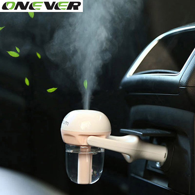Car Air Purifiers Mini Portable Car Styling Air Humidifier 4 colors Essential Oil Aroma Diffuser Wave Air Filter Mist Maker