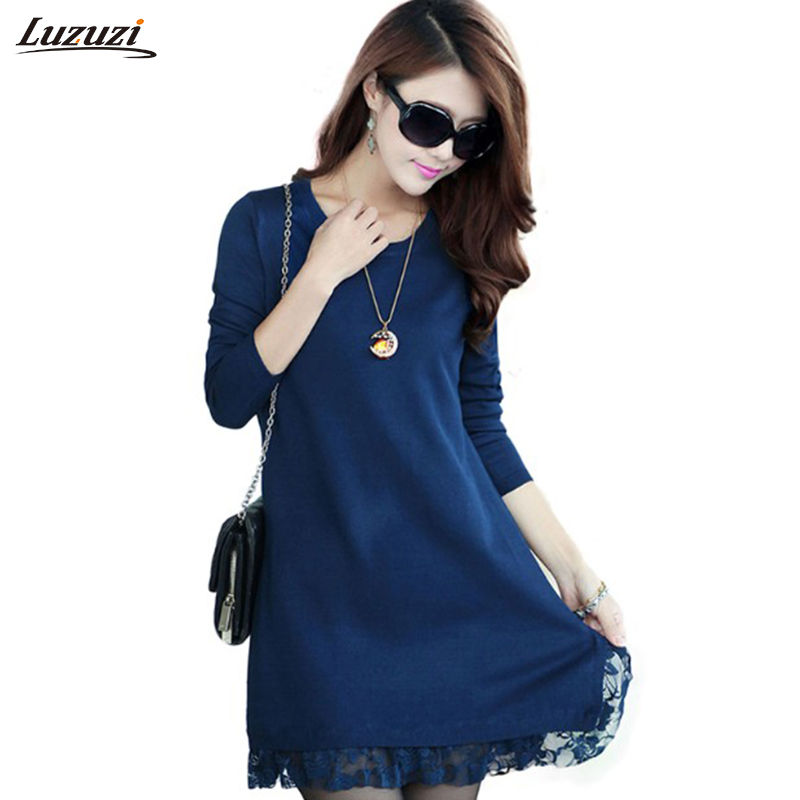 1PC Lace Knitted Pullover Sweater Women Sweaters And Pullovers Spring Autumn Winter Bottoming Shirt Women Tops