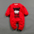 Del Bebé Del algodón Niños Niñas Ropa Encantadora del Año Nuevo Chino Tradicional Traje de Impresión de Ropa de Bebé Mameluco Infantil Del Mono de Los Mamelucos